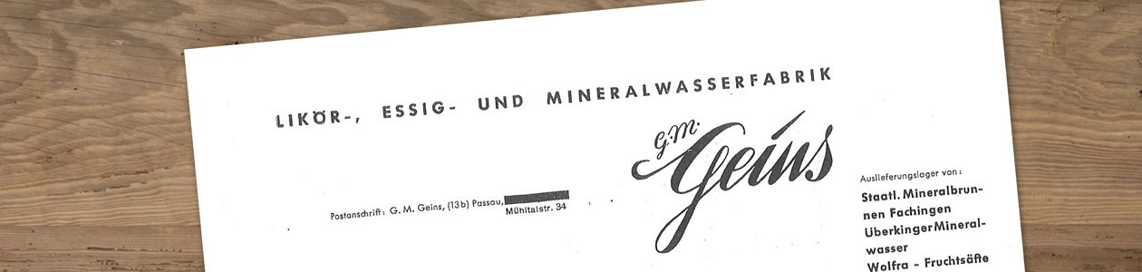 Getränke Geins - Historie - Lieferschein