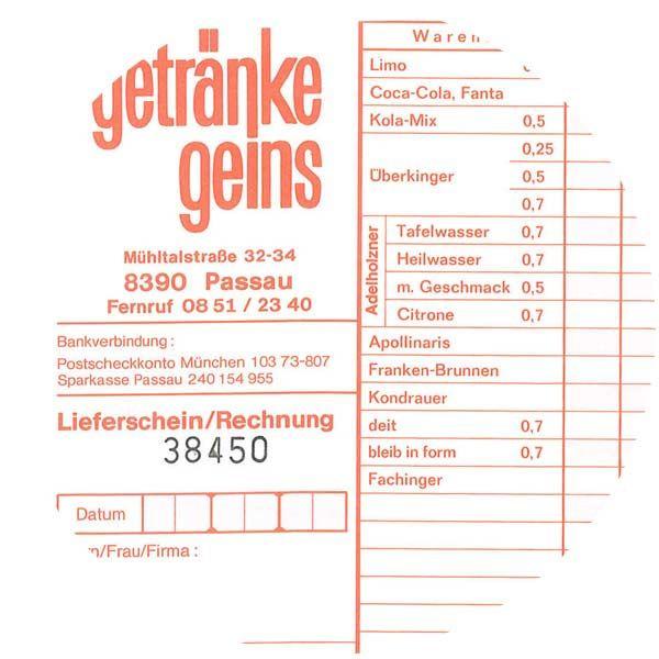 Getränke Geins - Historie Unternehmen - 1979