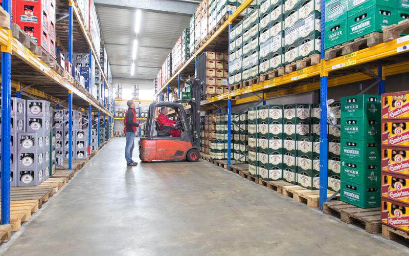 Getränke Geins - Lagerlogistik - moderne Lagerung - Logistik