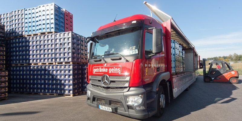 Getränke Geins - Transport mit LKW - Lieferservice